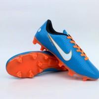 sepatu bola anak nike mercurial biru orange list putih murahh