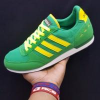 Sepatu Adidas Neo Hijau Kuning Bonek Snekers Nonton Bola Pria Murah