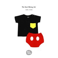 Hey Baby The Real Mickey Set Baju Bayi - 3-6 Bulan