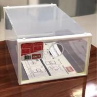 HONGTA - Kotak sepatu acrylic transparan /promo murah / kokoh / Rapi