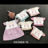 baju dres mini anak beby 0 sd 1thn motif balerina SIZE .S.M.L.XL
