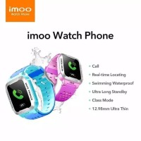 Jam Tangan imoo Y1 Watch Phone Biru Anak/Waterproof/GPS ORIGINAL 100%