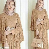 Murah Maxi Cape Regina Mocca Fashion Wanita Gamus Dres Baju Muslim