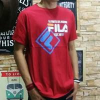Termurah XL Size Baju Kaos Pria Tshirt Distro Cowo Remaja Oblong Fila