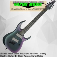 Ibanez Axion Label RGD71ALMS-BAM 7 String Electric Guitar In Black