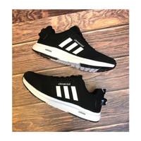 Sepatu Adidas Climacool Import /Pria Hitam Putih Running Casual