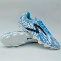 sepatu bola dewasa specs barricada ultra biru putih list hitam