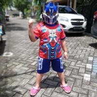 Baju Anak Kostum Karakter Hero Pendek Transformers Optimus Prime