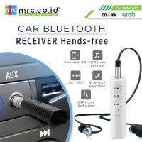 Universal Bluetooth Stereo Receiver Audio Car AUX 3.5 Jack Kit Hands - Hitam