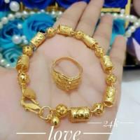Gelang dan cincin Lapis emas 24k 1320