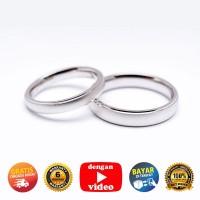 RC 066 - Ring Couple Korea, Silver Emas Putih ASLI - Garansi 6 bulan