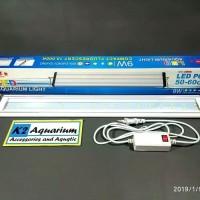 DISKON LAMPU LED Yamano p600 50-60cm aquarium aquascape putih biru