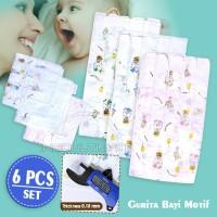 Gurita bayi motif new born/gurita motif tali ikat isi 6pcs GR-01