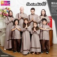 Baju Muslim Sarimbit Keluarga Nibras Family 60 Coklat Setelan Couple