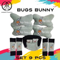 Bantal Mobil Bugs Bunny Set 9 pcs / Bantal Jok Mobil Bugs Bunny