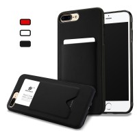 Casing Fashion Card Holder Back Case For iPhone X 8 7 6 6s Plus Cover