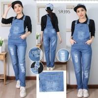 Baju Celana Kodok Overall Jumpsuit Jeans Import Tebal Rip S M L XL 3XL