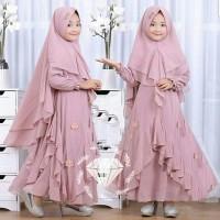 Dress Kaylia & Bergo - Dress Muslim Anak Perempuan - Gamis Anak