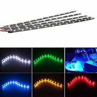 Lampu Strip Fleksibel Tahan Air 18 LED SMD untuk Mobil/Truk/motor