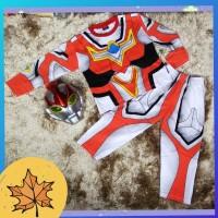 baju setelan anak lelaki 2-10thn atasan +bawahan costum ultraman kado