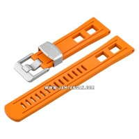 Strap Crafter Blue CB01-22mm-Universal-Orange Man Rubber Strap
