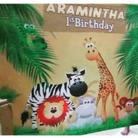 Spanduk banner birthday ulang tahun ultah dekorasi anak 17