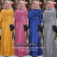 Anami maxy baju gamis broklat wanita muslim gaul