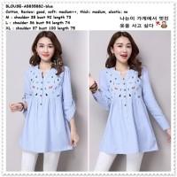 Baju Atasan Wanita Lengan Panjang Blouse Korea Import AB835882 Tunik