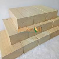 Balok yoga kayu solid Wooden Yoga block kayu jati belanda pinus