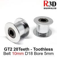 Pulley Idler Timing Belt Tension GT2 W10 D18 B5 20T No Teeth