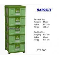 STB 500 Napolly Container Plastik Laci 5 Susun