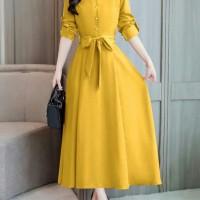 Baju / pakaian Wanita Citra Maxi long Dress kuning