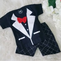 Baju Bayi Laki Laki Setelan Kondangan Pesta Bayi Tuxedo Tie