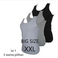 Baju Gym Cowok Tanpa Lengan Kaos Dalam Big Size Singlet Jumbo Agree