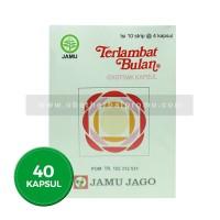 Jamu Jago Terlambat Bulan 40 Kapsul Herbal Obat Melancarkan Haid Alami