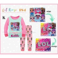 Piyama Anak Perempuan Lil Rose 184 K LOL Love Branded Murah Import