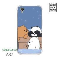 We Bare Bears 05 Casing Oppo A37 Anti Crack Anticrack Custom Case HP