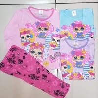 Baju Tidur LOL Bahan Katun 1-7th / Setelan Anak /Baju Tidur Kuda Poni