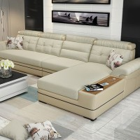 Sofa L shape Luxury with charging