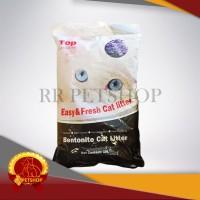 Gojek / Pasir Kucing Gumpal Bentonite Cat Litter 10 Liter Top Cat 10L