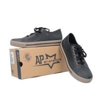 Sepatu ApStar AP Star Sepatu Sekolah Anti Air Tahan Air - HITAM COKLAT