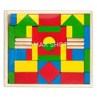 Mainan Edukasi Anak Balok Kayu Wooden Block Susun Rumah dan Bangunan