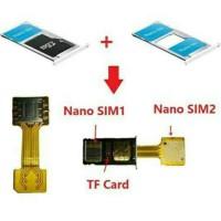 Universal Hybrid Extender Nano Sim Slot Dual SIM Card Adapter Micro SD