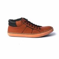 Sepatu kasual semi boots Black master Coklat muda Original Like Vans