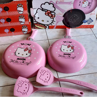 teflon hello kitty panci pink cantik lucu teflon unik teflon 22 cm T