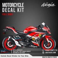 Decal Sticker Kit Ninja 250 FI Merah Ferrari DG Stiker