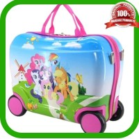 Grosir Tas Trolley Troli Anak Fiber Little Pony / Tas Koper Travel