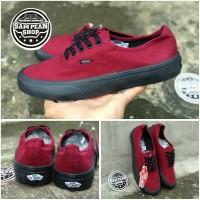 TERMURAH Sepatu Vans AUTHENTIC Red maroon Black PREMIUM ORIGINAL