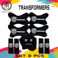 Bantal Mobil Transformers Set 9pcs / Bantal Jok Mobil Transformers Set