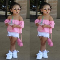 Blouse Baju Anak Fashion Import Cute Pakaian Sabrina, Off Shoulder